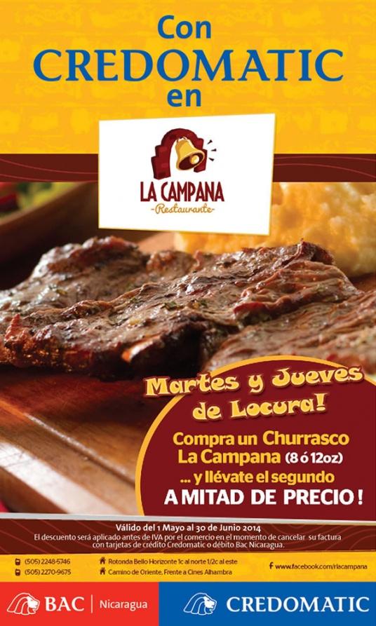 Restaurante la campana promodescuentos nicaragua for Restaurante la campana barcelona