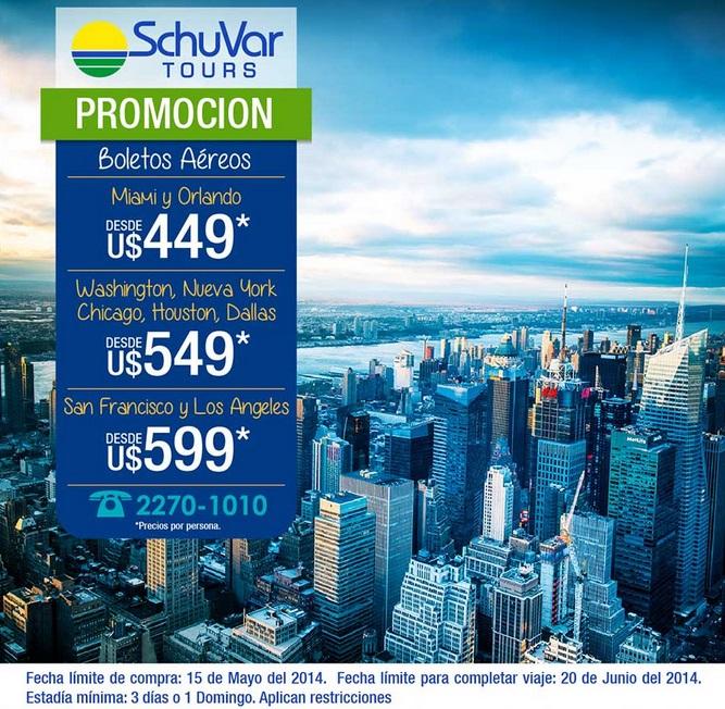Schuvar tours promoci n para viajar a estados unidos promodescuentos nicaragua - Oficina de turismo nueva york ...