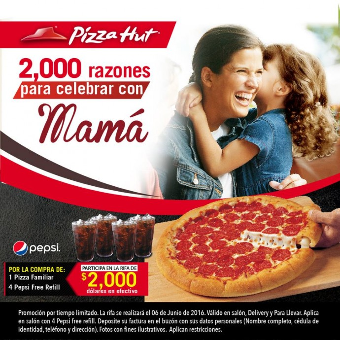 pizza hut promoci n d a de la madre promodescuentos nicaragua. Black Bedroom Furniture Sets. Home Design Ideas
